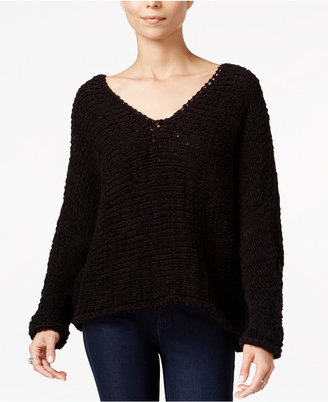 Free People Dolphin Bay V-Neck Sweater $128 thestylecure.com