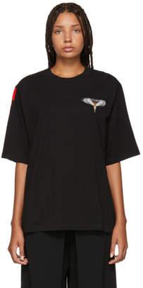 Marcelo Burlon County of Milan Black Wings Barcode T-Shirt