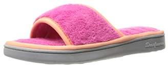 Dearfoams Women's Microfiber Terry Open Toe Scuff Slipper