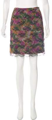 Anna Sui Lace Trim Mini Skirt