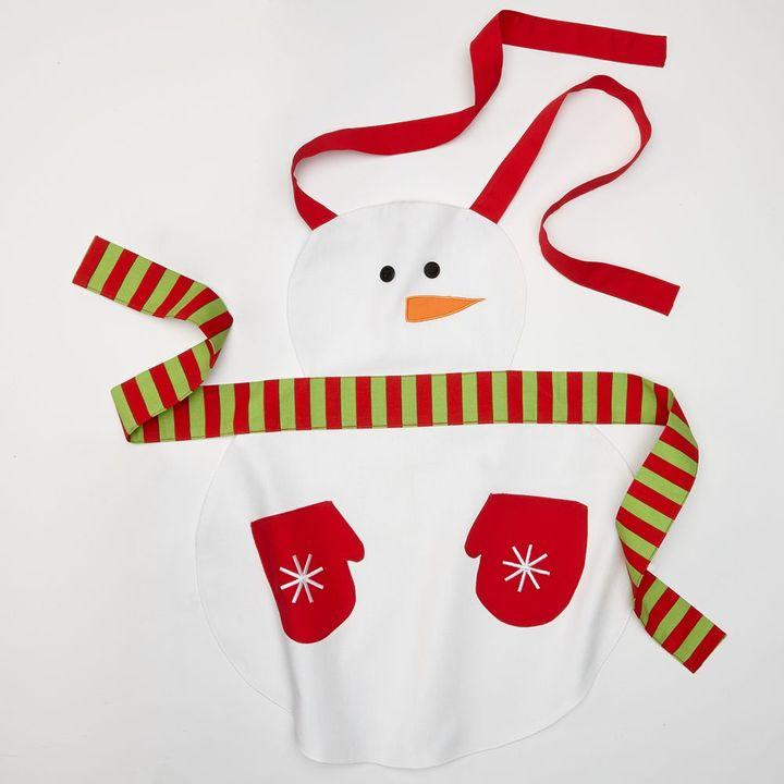 Snow fun christmas apron - kids