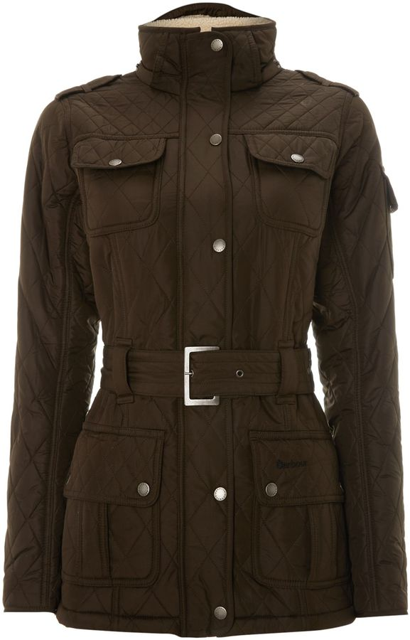Barbour League Quilt Belted Coat