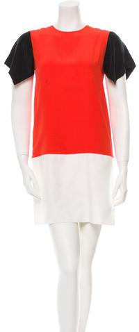 CelineCéline Silk Colorblock Dress