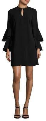 Shoshanna Tiered Bell-Sleeve Dress