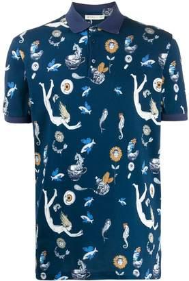Fantasy print polo shirt