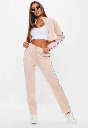 Missguided Barbie x Pink Side Stripe Track Pants