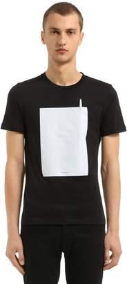 Maison Margiela Paper Front Cotton Jersey T-Shirt