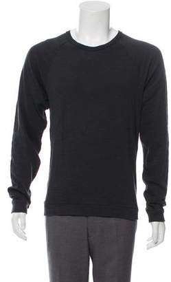 Rag & Bone Distressed Crew Neck Sweatshirt