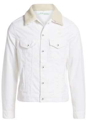 Off-White Corduroy Shearling Jacket