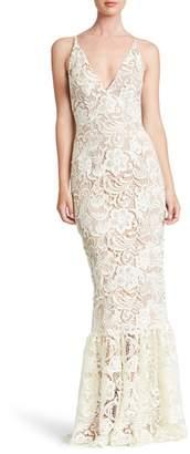 Dress the Population Sophia Crochet Lace Mermaid Gown