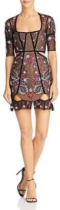 For Love & Lemons Ester Cutout Mini Dress