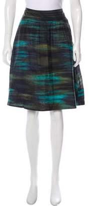 Theory Printed Silk Skirt