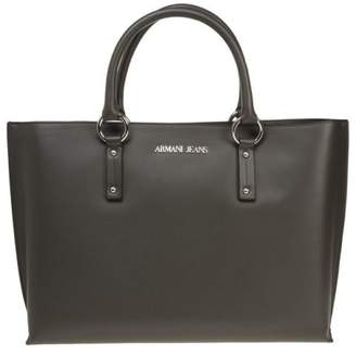 At Ebay Fashion Outlet Armani Jeans New Womens Grey Large Polyester Handbag Tote Bags
