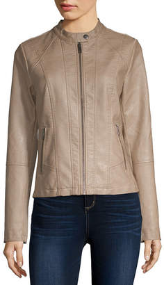 Sebby Faux Leather Lightweight Motorcycle Jacket