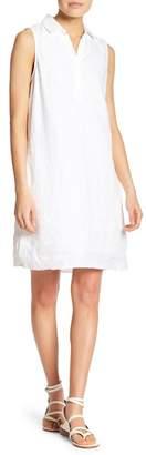BeachLunchLounge Leandra Split Neck Linen Dress