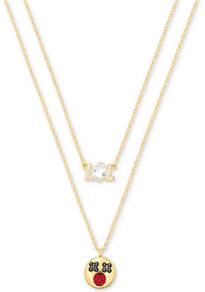 Swarovski Gold-Tone 2-Pc. Set Clear & Colored Crystal Pendant Necklaces