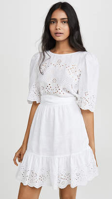 Rebecca Taylor Short Sleeve Sarcelle Dress