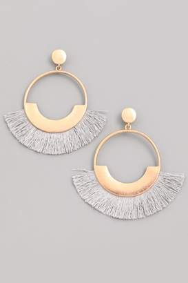 Compendium Grey Fringe Earrings