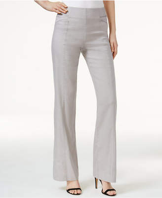 INC International Concepts Linen-Blend Wide-Leg Pants, Only at Macy's $69.50 thestylecure.com