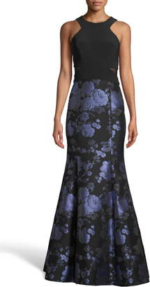 Xscape Evenings Brocade Trumpet Evening Gown