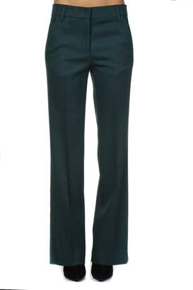 Dondup Green Crepe Flared Trousers