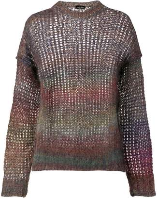 Roberto Collina rainbow cage knit top