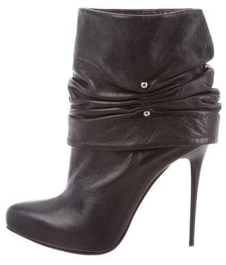 Gianmarco Lorenzi Ruched Leather Boots