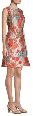 Etro Floral Jacquard Fit-&-Flare Dress