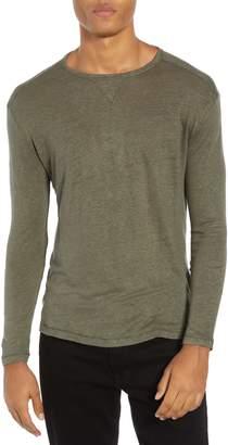 Rails Reynold Long Sleeve Regular Fit Linen Blend T-Shirt