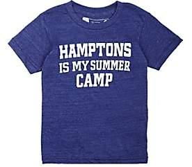 """Little DiLascia Kids' """"Hamptons Is My Summer Camp"""" Jersey T-Shirt-Blue"""