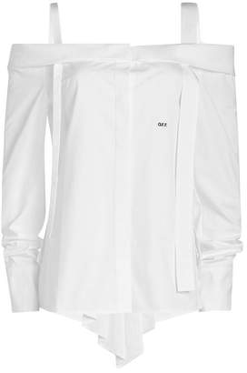 Off-White Off-Shoulder Cotton Shirt