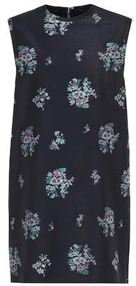 Gucci Floral cotton and wool dress