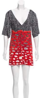 Balenciaga Abstract Print Mini Dress