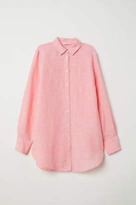 H&M Linen Shirt - Orange