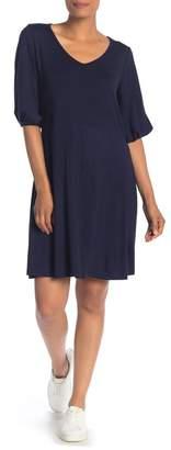 Como Vintage Pucker Sleeve T-Shirt Dress