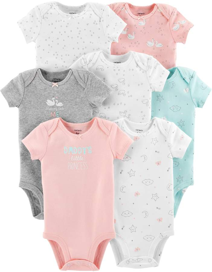 Carters Baby Girl Carter's 7-pack Graphic Bodysuits