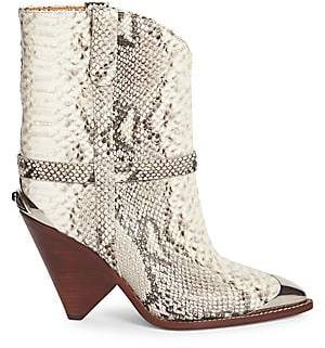 Isabel Marant Women's Lamsy Leather Mid-Calf Boots