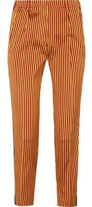 Etro Striped Silk Straight-Leg Pants