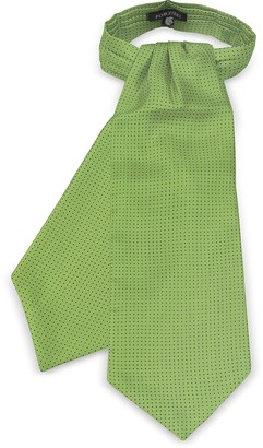Forzieri Micro Dots Print Silk Tie Ascot