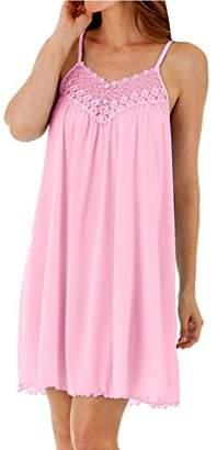 Shadowline Women's Plus-Size Beloved 38 inch Braided Spaghetti Strap Short Gown