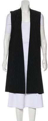DKNY Long Pinstripe Cardigan