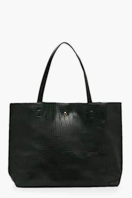 boohoo Croc Day Bag