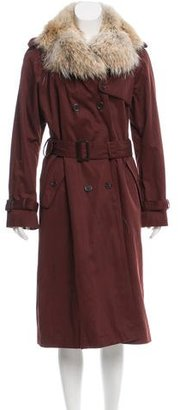 Marc by Marc Jacobs Fur-Trimmed Penn Trench Coat