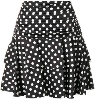 Moschino polka dot print skirt