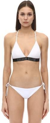 Calvin Klein Logo Band Lycra Triangle Bikini Top