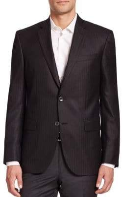 Saks Fifth Avenue COLLECTION Cashmere-Silk Striped Blazer
