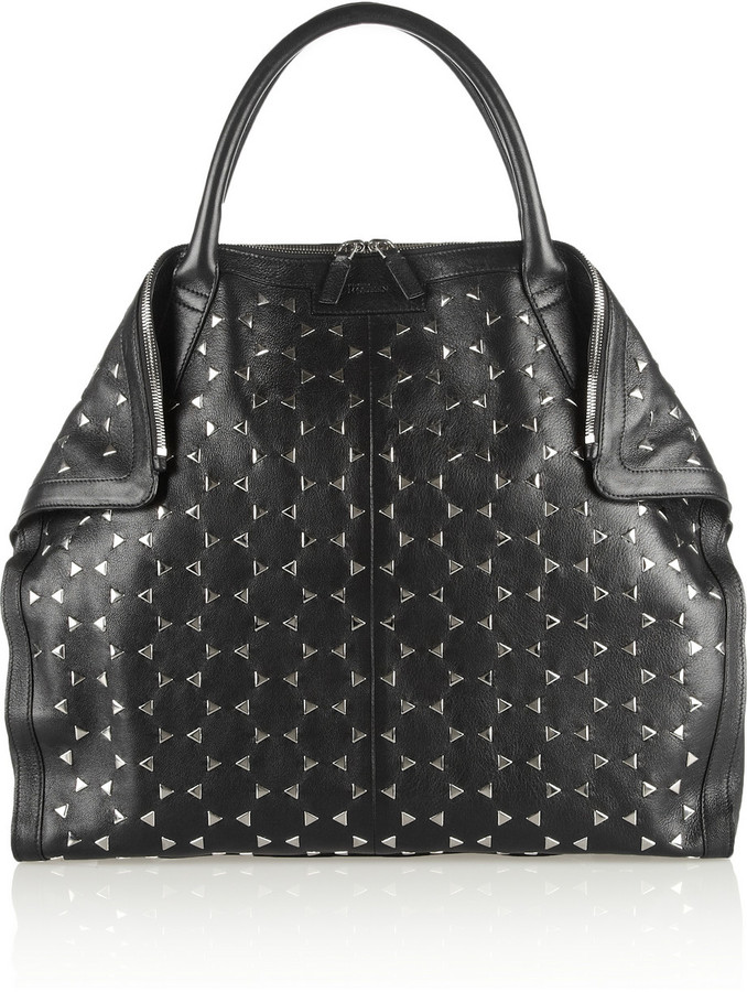 Alexander McQueen De Manta Large studded leather tote
