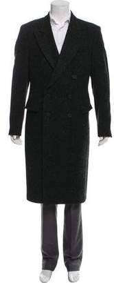 BLK DNM Alpaca Mohair Blend Double-Breasted Overcoat
