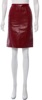 Lanvin Vegan Patent Leather Pencil Skirt