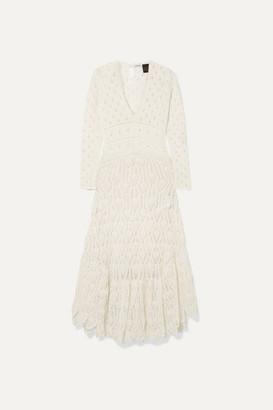 Loewe Paula's Ibiza Crocheted Cotton Maxi Dress - Ivory